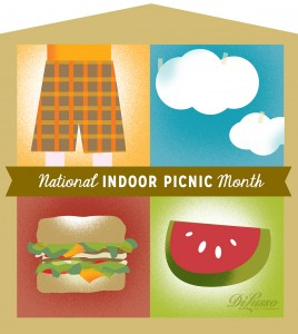 It's official! We declare February National Indoor Picnic Month!