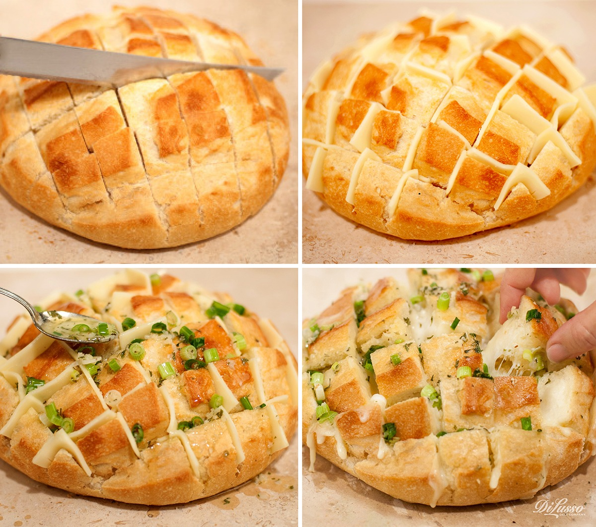 Pull-Apart Garlic Cheese Bread
