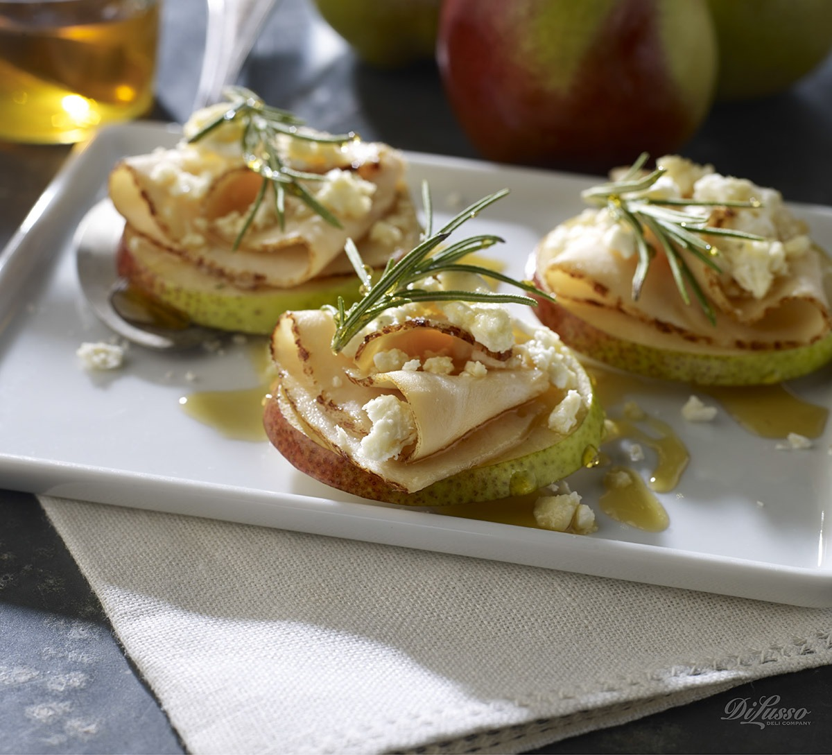 Gluten-Free Honey Pear Crostini