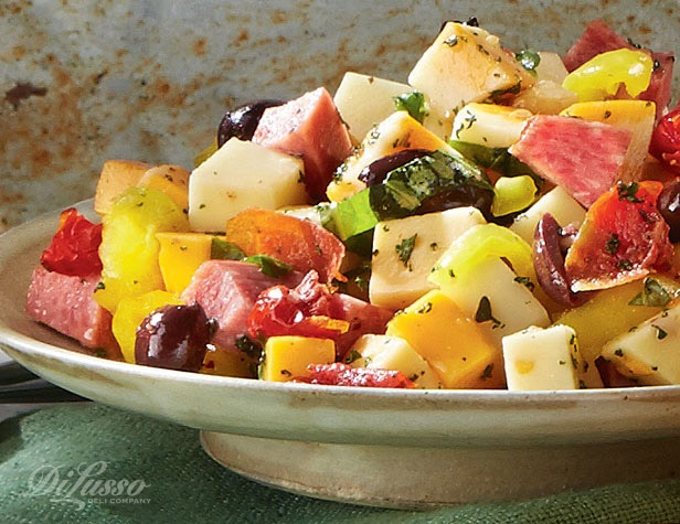 Zesty Antipasto Salad with Herbed Vinaigrette