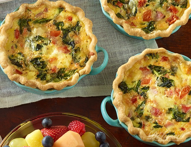 Individual Ham and Cheese Quiche