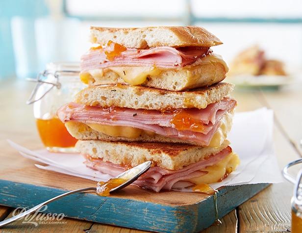 Grilled Ham and Havarti Sandwich