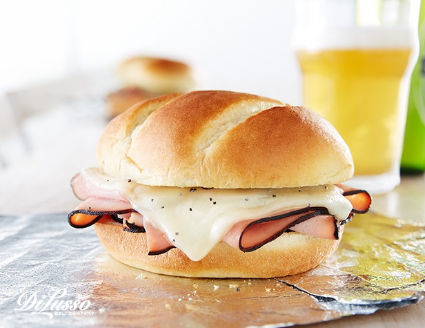 Hot Ham and Swiss Cheese Sandwiches