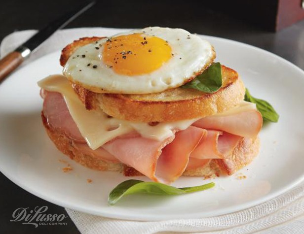 Ham and Swiss Breakfast Sandwich