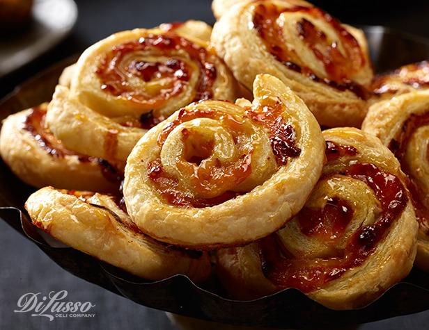 Ham, Swiss & Apricot Pinwheels