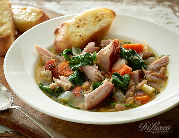 Hearty Ham, Bean & Spinach Soup - Di Lusso Deli