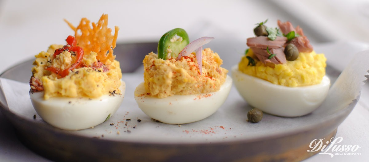 Deviled Eggs Four Ways - Di Lusso Deli