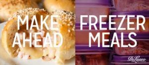 Make Ahead Freezer Meals & Snacks