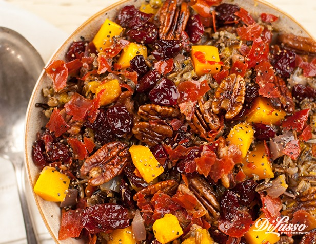 Wild Rice Pilaf with Crispy Prosciutto, Cherries & Squash ...