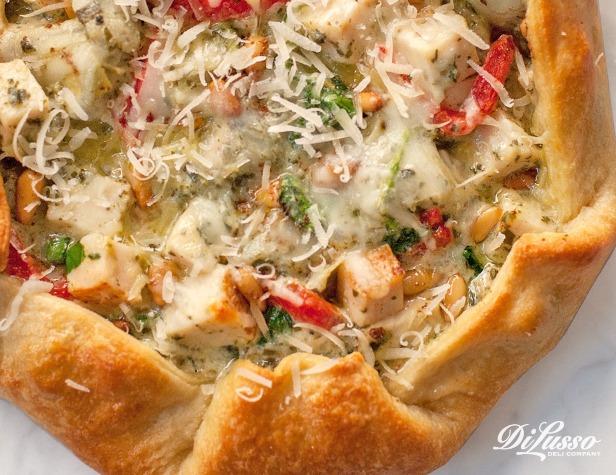 Pesto Chicken Artichoke Galette