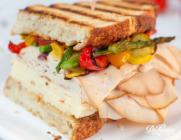 Applewood Smoked Chicken & Roasted Vegetable Panini