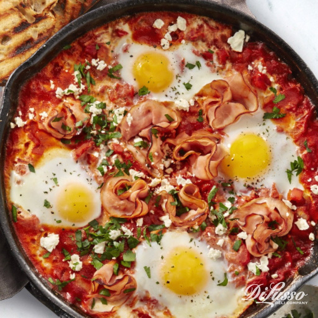 Spicy Shakshuka with Ham