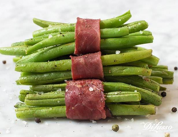 Pastrami-Wrapped Green Bean Bundles