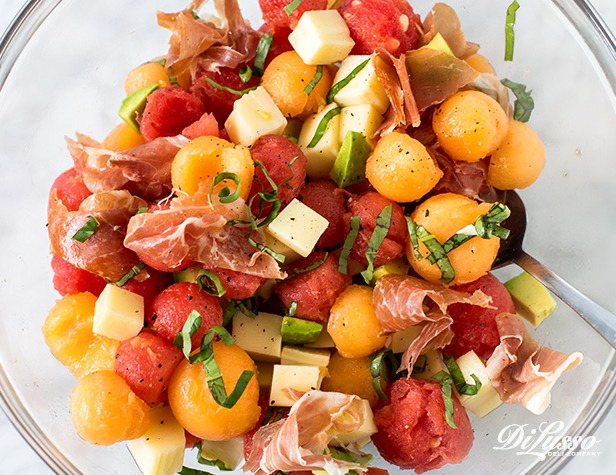 Melon, Avocado & Prosciutto Salad