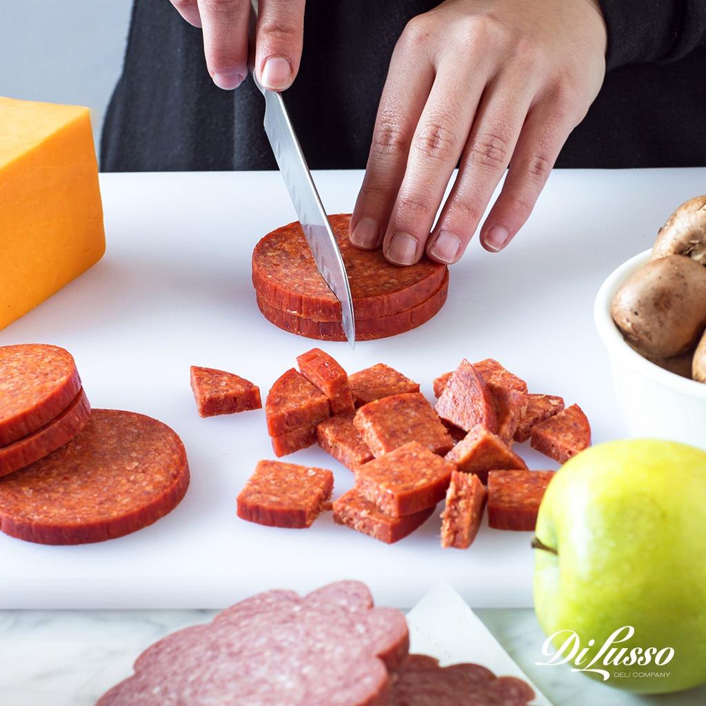 Slicing Hard Salami for Fondue