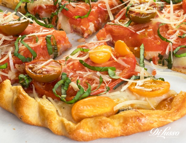 Tomato, Salami & Mozzarella Galette