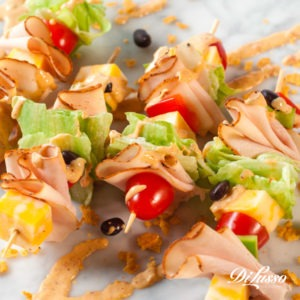 Southwest Salad Skewers - Tastier Tailgate Blog
