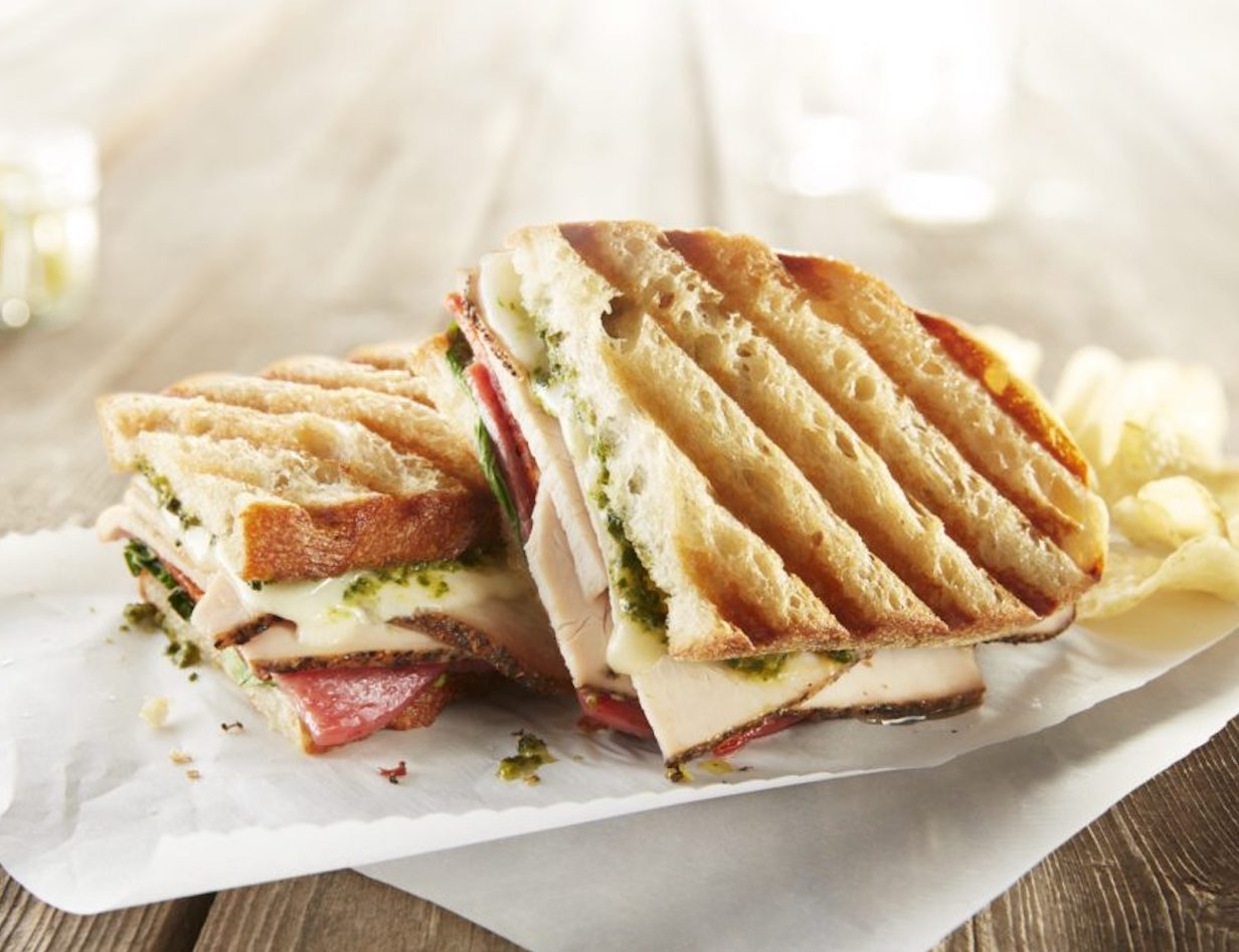 Italian Style Grilled Roasted Turkey Panini