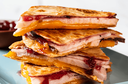 Sweet Cranberry Sage Turkey Quesadilla