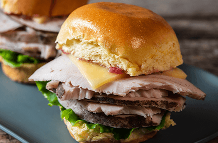 Cranberry Sage Turkey Sliders
